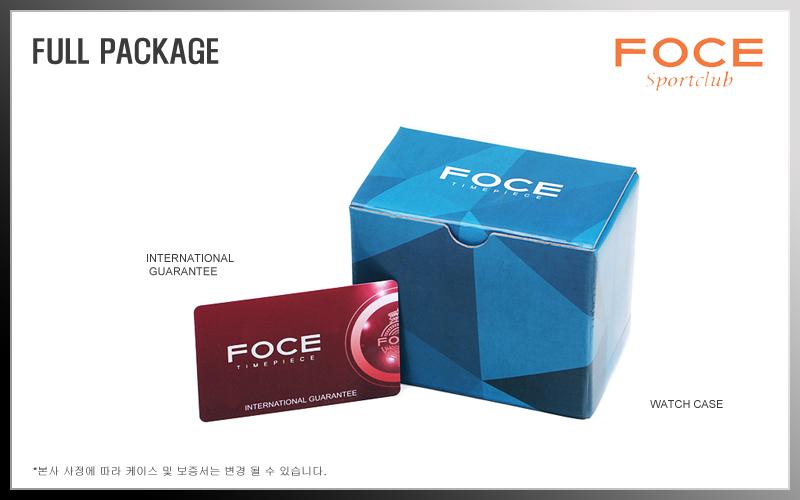 포체(FOCE) {한국본사정품} 포체 남성 손목 시계 F5006M-BK